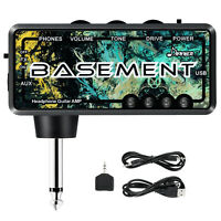 Donner Basement Pocket Headphone Guitar AMP For Accustic Electric Guitar Black