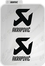 2 Adesivi Stickers Akrapovic resistenti al calore prespaziati 90 x 80cm  Nero