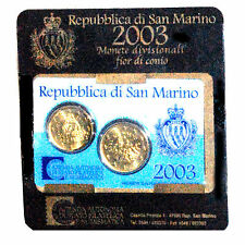 MINIKIT SAN MARIN 2003 20 + 50 CENT EURO FDC KMS