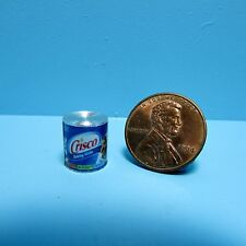 Dollhouse Miniature Replica Can of Crisco Shortening ~ G137