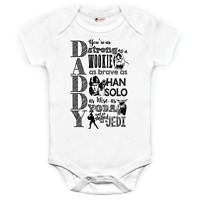 Star wars Jedi Themed Father Dad Daddy Fathers Day Birthday baby grow babysuit