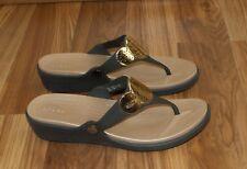 Crocs Sanrah Embellished Wedge Womens Slip On Sandal Size 9 Dual Comfort footbed