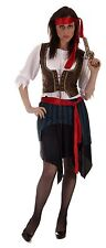 Caribbean Pirate Lady Plus Size Fancy Dress Costume Size 16-24
