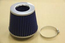 3.0' Universal High Flow DRY Cone Air Intake Turbo Filter Clean Washable Blue