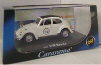 CARARAMA VW BEETLE HERBIE diecast model rally car cream black Number 53 1:43rd