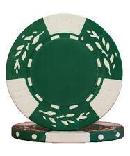 100pcs 10.5g Wheat No Metal Insert Poker Chips Green