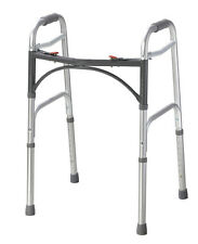 """Drive Medical Deluxe Two Button Folding Walker 10200-1 Walkers 15.5"""" x 22"""" x 32"""""""