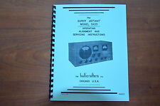Owner's Manual Hallicrafters Sx-25 Receiver Sx25