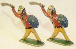 paire d indiens au sabre jouet ancien en alu genre Aludo, Cofalu, Ninin? 60mm