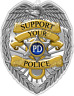"""Support Police Badge Officer Cop Justice Car Bumper Vinyl Sticker Decal 4""""X5"""""""