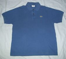 Lacoste  Men's Size 5 Short Sleeve Polo Style Shirt Color Blue