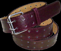 """120 1.5"""" BROWN TWO HOLE CASUAL JEANS LEATHER BELT AVAILABLE IN ALL SIZES TO 3XL"""