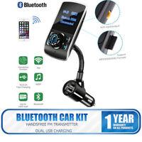 Transmisor FM bluetooth para Coche Manos Libres Cargador USB MP3 Radio Targeta