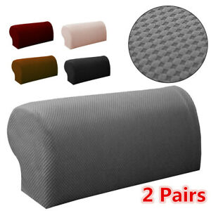 2pcs Sofa Couch Armrest Covers Recliner Arm Cover Protector Stretch Protector