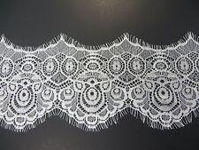 US Seller - 3 meters lace trim eyelash fabric vintage venise white 11cm wide