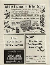 1947 PAPER AD Buildo Toy Company Construction Toys Set