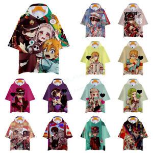 Anime Toilet-Bound Hanako-kun Nene Yashiro Short Sleeve Hooded Hoodie T Shirt