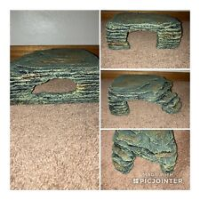 New listing Reptile Large Cave Shelter Resin Rock Hideout Big House Reptiles 9x10x3.5�