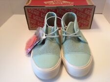 Vans Off the Wall Rhea SF Square Perf SF Gossamer Green Womens Boots 5.0 Shoes
