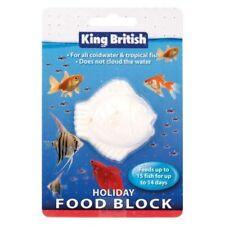 King British Holiday Food Block calcium vacation feed for aquarium fish tropical