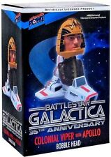 Battlestar Galactica Colonial Viper with Apollo Bobble Head Bif Bang Pow!