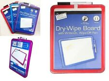 A4 Magnetic Drywipe Whiteboard with Dry Wipe Marker Ideal for School Office