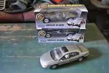 2 Chrysler Atlantic Die Cast Cars And One Silver 1994 Chrysler LHS Car For FREE