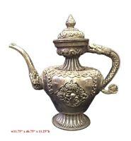 Chinese Vintage Handwork Silver Copper Animals Tea Pot Flagon mh265
