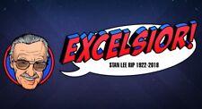"STAN LEE ""EXCELSIOR!"" 1922-2018 MEMORIAL FRIDGE MAGNET 5"" X 3.5"""