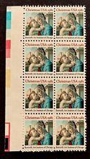 US Stamps, Scott #1939 20c 1981 Christmas: Madonna & Child block of 8 XF/S M/NH