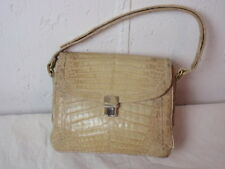 Vintage IRV Italy Shoulder Purse Handbag Off White Alligator Skin Adjustable