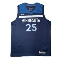 Nike NBA Minnesota Timberwolves Blue Jersey #25 ROSE Youth L Women's 14/16 NEW
