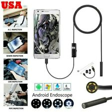 6LED Waterproof Borescope Endoscope Snake Inspection Camera For Android Phone PC