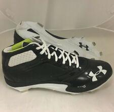 New listing NEW Under Armour Team Heater V Mid ST Baseball Cleats Black / White Sz 15