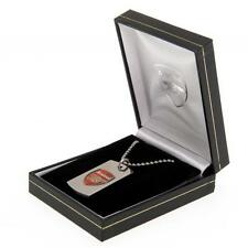 Arsenal Fc Colour Crest Dog Tag & Chain in Gift Box Football Red Crest Team New