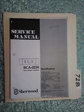 Sherwood sca-2250 service manual original repair book car amp amplifier