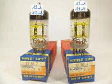two NOS ECC81 12AT7 Philips Miniwatt Dario made in Blackburn code VF3 B9C2, B9C3