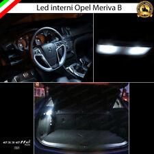 KIT LED INTERNI ABITACOLO OPEL MERIVA B ANT + POST + BAG 6000K CANBUS BIANCO