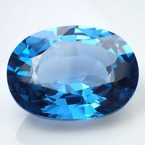 SWISS-BLUE TOPAZ, OVAL-FACET, 16.5x13.5mm NATURAL BRAZILIAN GEM (APPRAISAL £418)