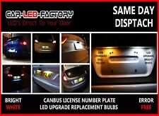 VAUXHALL ZAFIRA B 2.0L VXR BRIGHT WHITE LED NUMBER PLATE LIGHT BULBS ERROR FREE