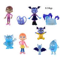 9 PCS Vampirina Cartoon Batwoman Girl Action Figures Cake Collect Doll Toy Gifts