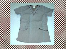 NEW Scrubs * Print Scrub Top * XS * Chocolate Checkered