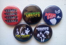 "5 x The Cramps 1"" Pin Button Badges ( rockabilly halloween horror psychobilly )"