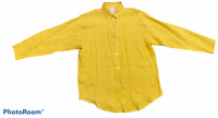 Woman's KATHLEEN SOMMERS Yellow Blouse Top Shirt Long Sleeve Size Medium M