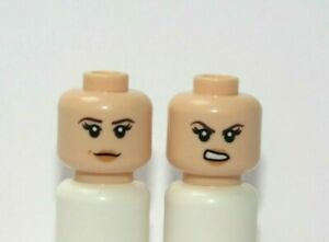 Lego 1 Flesh Minifigure Reversible Head Female Girl Peach Lips Rachel Friends