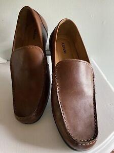 Alfani Holden Mens : Mocs Loafers Shoes Brown  Leather Slip On Mens 10.5 M