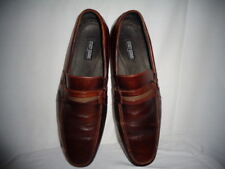 STACY ADAMS Men's Brown Leather Dress Shoes Loafers Size US 11 M