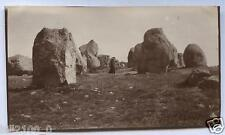 Bretagne. Morbihan. Carnac . Dolmens .  photo de 1918