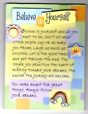 Fridge Magnet 3D Plaque Encouragement Believe in Yourself Follow Your Dreams