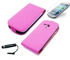 Schutzhülle f Samsung Galaxy S3 mini i8190 Kunstleder Tasche Flip Case Cover